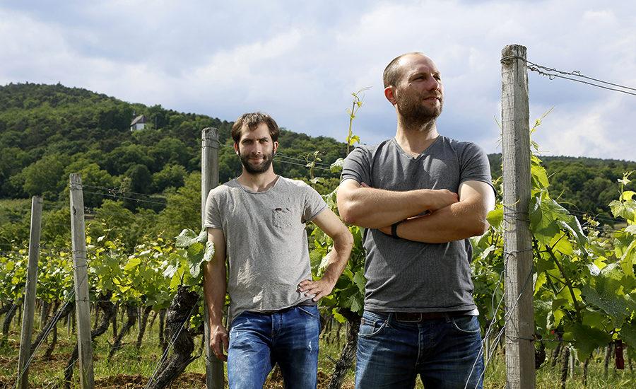 Rieslingprodusentene Georg og Martin Fusser. foto © Melanie Hubach